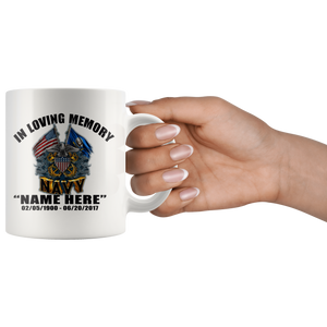 In Loving Memory Navy Mug