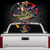 Toy.Dual Flag Back Window Decal Dont Tread