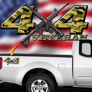 Veteran 4x4 Camo Decal