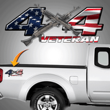 4x4 Veteran Decal xlg
