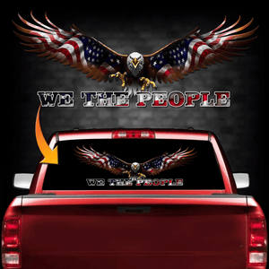 We The People Back Window Decal