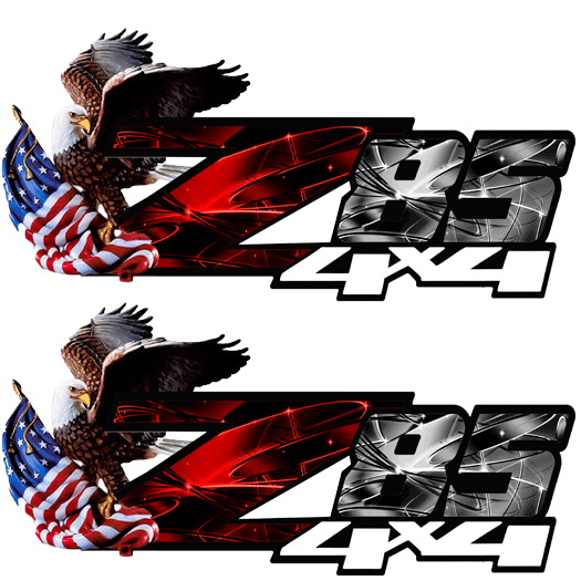 Z85 Red Pearl Eagle Flag