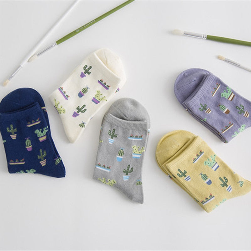 Girly Cactus Socks