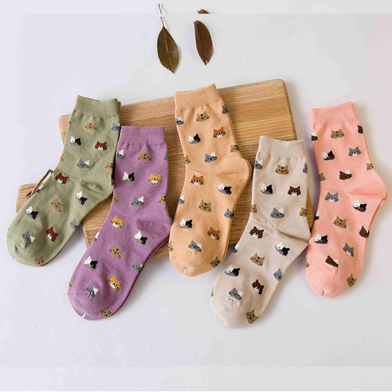 Girly Cat Socks