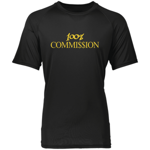 100% Commi$$ion T Shirt - Gold Letters
