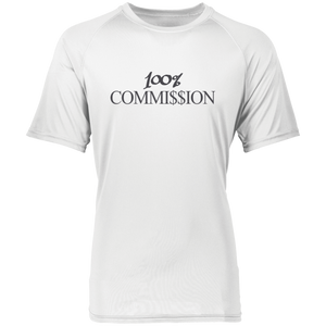 100% Commi$$ion T Shirt - Grey Letters