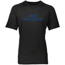 Load image into Gallery viewer, 100% Commi$$ion T Shirt - Royal Blue Letters