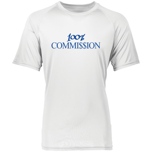 100% Commi$$ion T Shirt - Royal Blue Letters