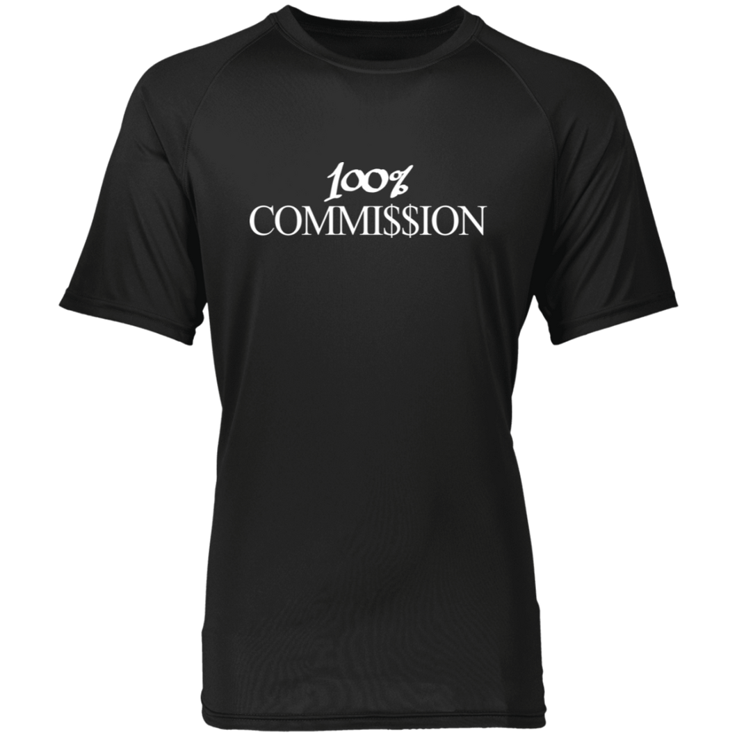 100% Commi$$ion T Shirt - White Letters