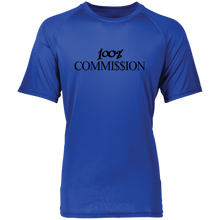 Load image into Gallery viewer, 100% Commi$$ion T Shirt - Black Letters