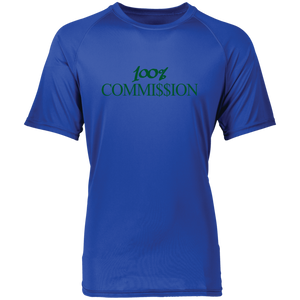 100% Commi$$ion T Shirt - Green Letters