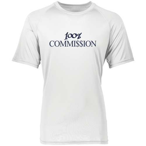 100% Commi$$ion T Shirt - Dark Purple Letters