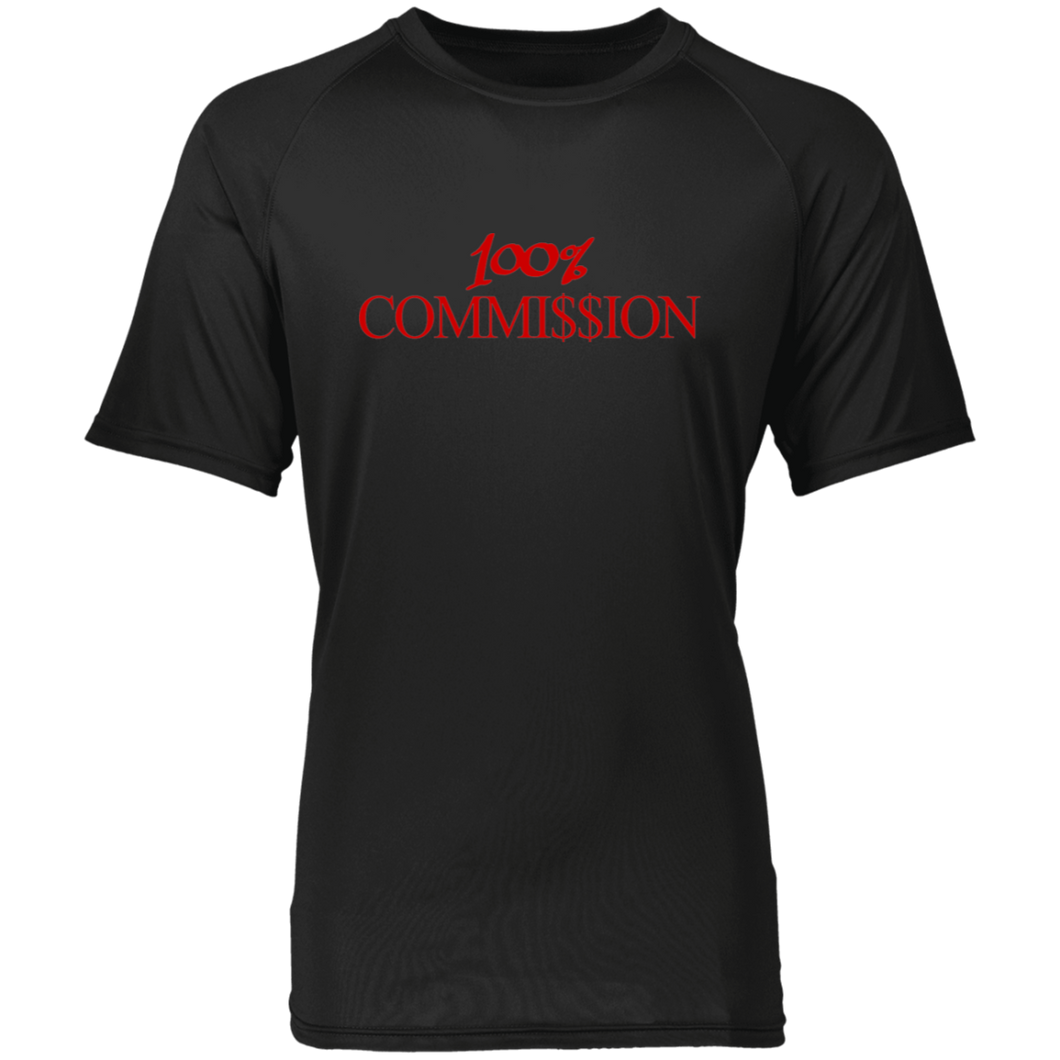 100% Commi$$ion T Shirt - Red Letters