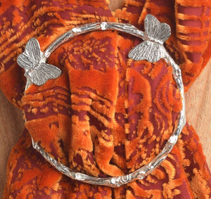 Butterfly Pewter Scarf Ring