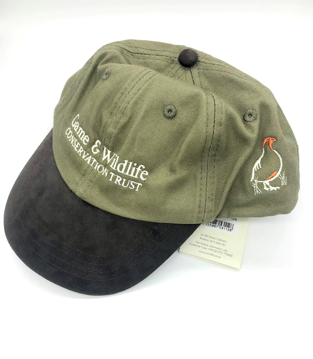 GWCT & Schoffel Olive Shooting Cap