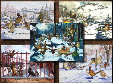 2020 Mixed Pack of Loon (5 different Christmas Card designs) - Pack of 10