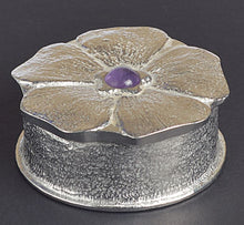 Load image into Gallery viewer, Forget Me Not Amethyst Pewter Keepsake Box