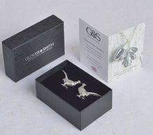 Load image into Gallery viewer, Pewter Pheasant Cufflinks