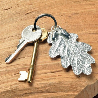 Pewter Oak Leaf and Acorn Keyring