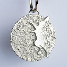 Load image into Gallery viewer, Boxing Dancing Hare Pewter Keyring