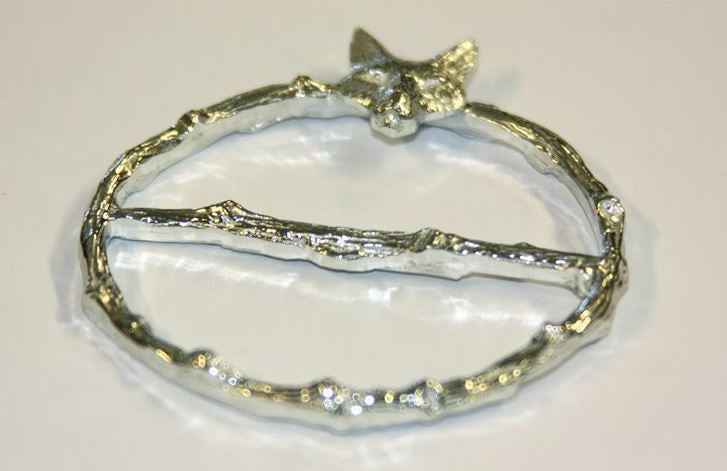 Fox Pewter Scarf Ring