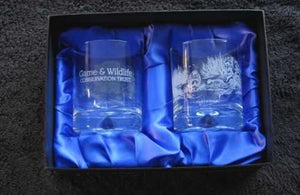 GWCT Engraved Glass Tumblers