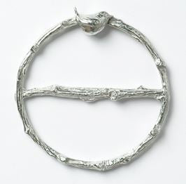 Wren Pewter Scarf Ring