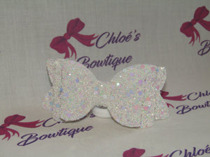 White Glitter Elasticated Headband