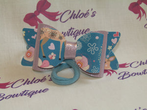 Blue Deer & Lilac Gloss Shimmer Elasticated Headband