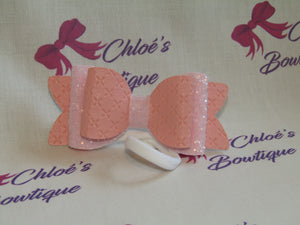 Pink Criss Cross & Pink Glitter Elasticated Headband