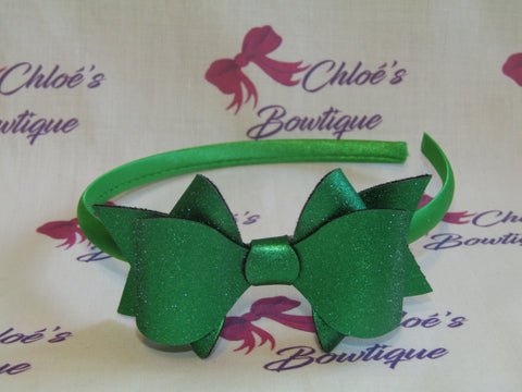 Green Shimmer Alice Headband