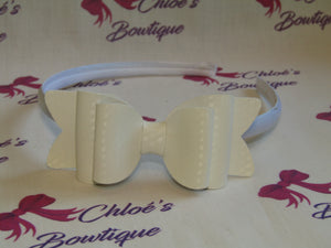 White Colour Changing Alice Headband