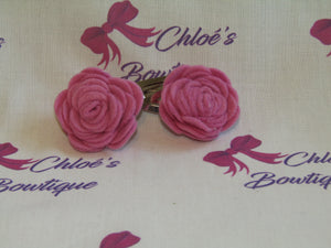 Pink Flower Snap Clip