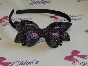 Multi Black Glitter & Spider Alice Headband