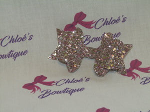 Pink & Gold Mix Glitter Clip