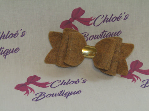 Brown Mix Felt Clip