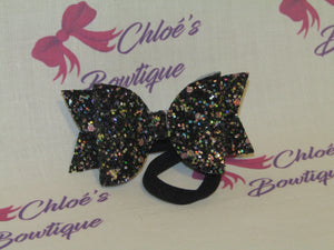 Black Multi Glitter Elasticated Headband