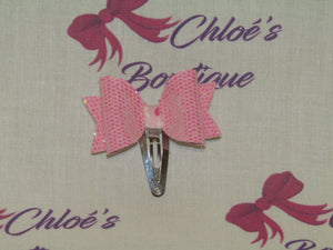 Pink Iridescent & Pink Hugs & Kisses Snap Clip