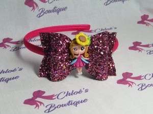 Purple Multi Glitter Alice Headband