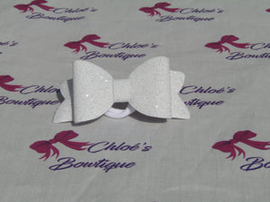 White & Silver Shimmer Elasticated Headband