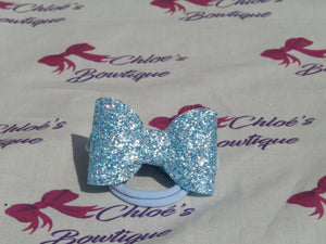 Blue & Silver Sparkle Elasticated Headband