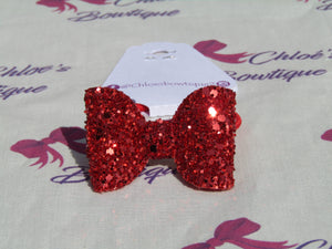 Red Glitter Hair Bobble