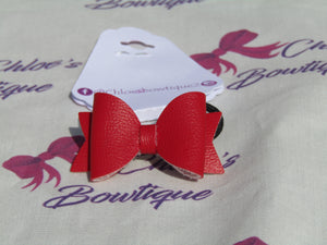 Red Leatherette Hair Bobble