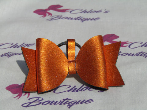 Orange Shimmer Bow Keyring