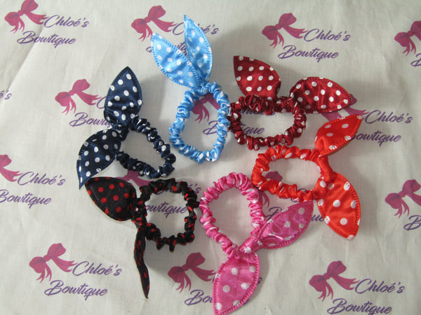 Bright Patterned Top Knot Scrunchies