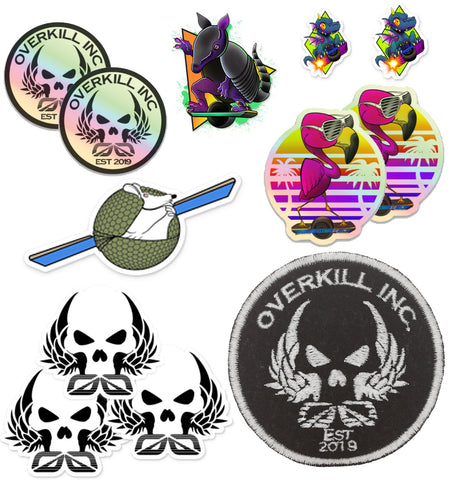 Armor-Dilloz Patch & Sticker Pack