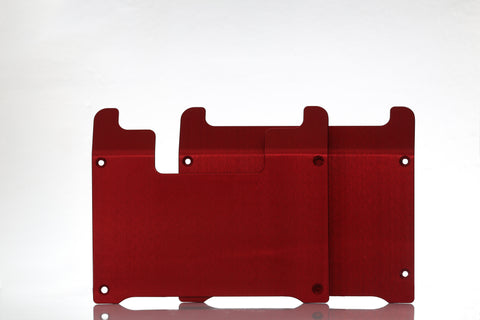 Red Anodized 5052 Aluminum Plates - For the OneWheel XR