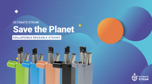 UltimateStraw reusable straw 5 colours to choose from
