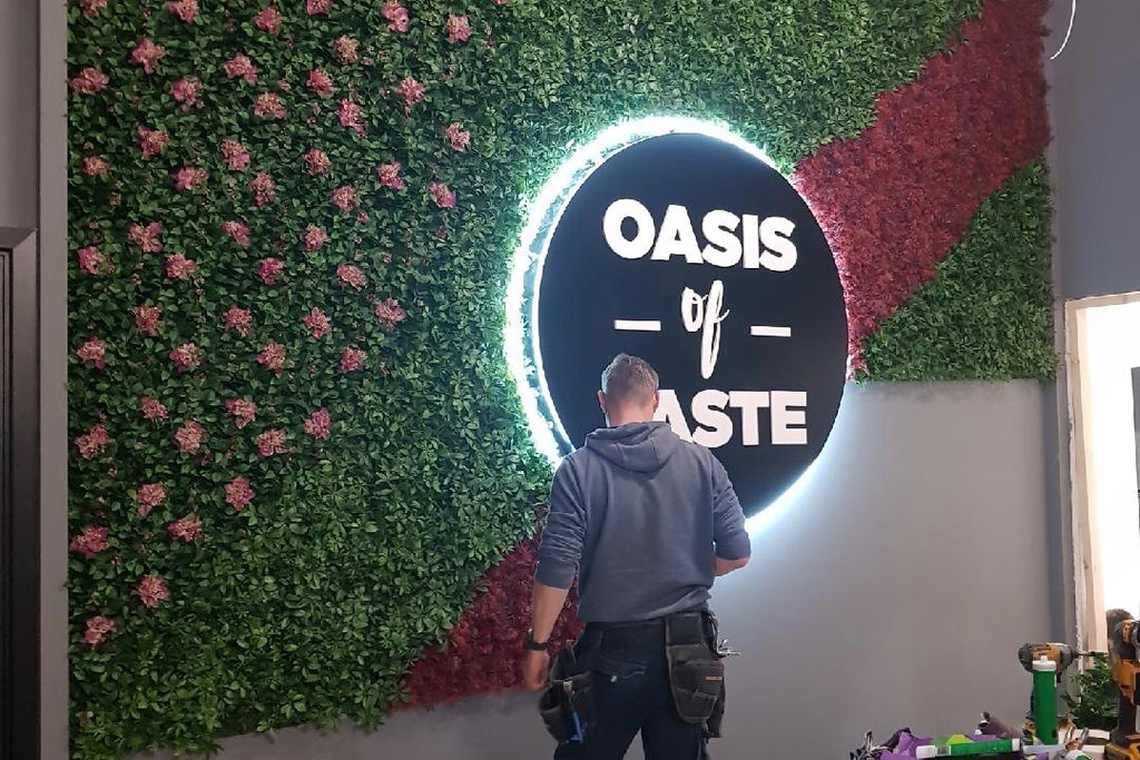 Oasis of Taste - Artificial Green Wall - Trees Company