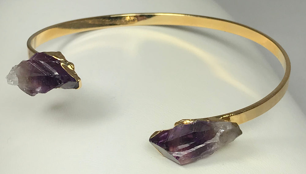 Amethyst Adjustable Gold Bracelet